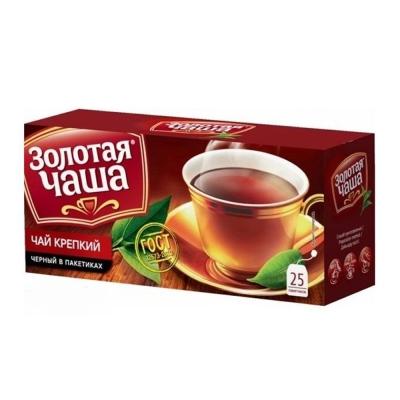 Чай Золотая чаша Крепкий 25 пак.