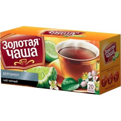 Чай Золотая чаша Бергамот 20 пак. с яр.