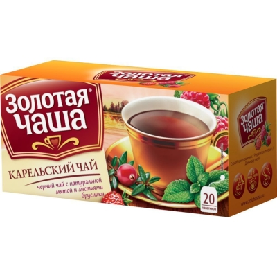 Чай Золотая чаша Карельский 20 пак. с яр.
