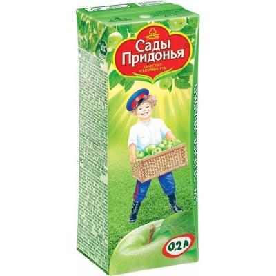 Сок Сады Придонья яблоко зеленое восстановленный