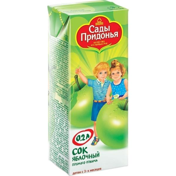 Сок Сады Придонья яблоко прямой отжим