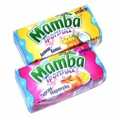 Конфеты жевательные Мамба Тропикс