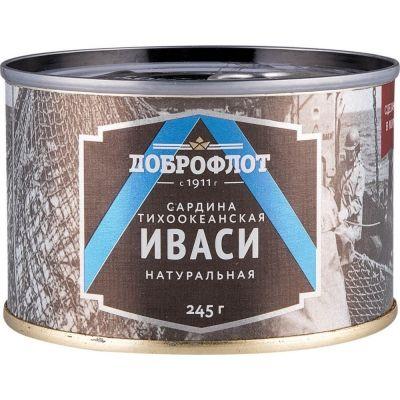 Сардина то (иваси) натуральная №6 ЛВК Доброфлот