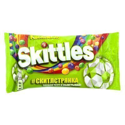 Конфеты жевательные Skittles в глазури Кисломикс