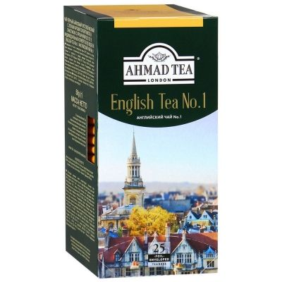 Чай Ahmad Tea Английский №1 25 пак. с/я в к/фольги