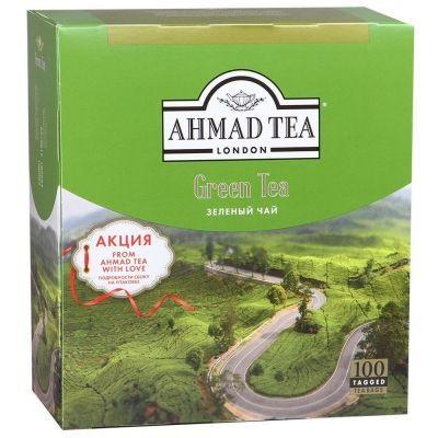 Чай Ahmad Tea Зеленый 100 пак. с/я