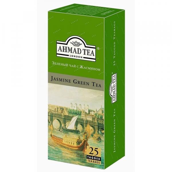 Чай Ahmad Tea Зеленый с жасмином 25 пак. с/я в к/фольги