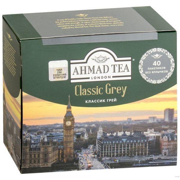 Чай Ahmad Tea Классик Грей 40 пак. б/яр
