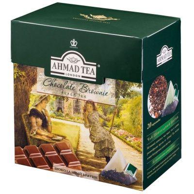 Чай Ahmad Tea пирамидки Шоколадный брауни черный 20 пак.