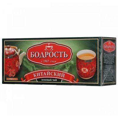 Чай Бодрость китайский зеленый 25 пак. с/я