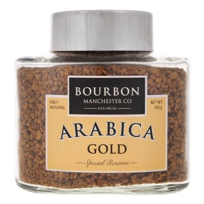 Кофе Bourbon Arabica Gold растворимый сублимированный ст/б