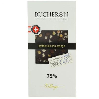 Шоколад Bucheron горький с зернами кофе и апельсином картон