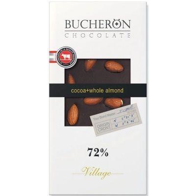 Шоколад Bucheron горький с цельным миндалем картон