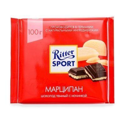 Шоколад Риттер Спорт Горький с Благородным Марципаном