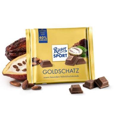 Шоколад Риттер Спорт Молочный GOLDSCHATZ