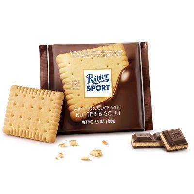 Шоколад Риттер Спорт Молочный с печеньем
