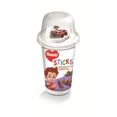 Вафельные трубочки FINETI STICKS + игрушка