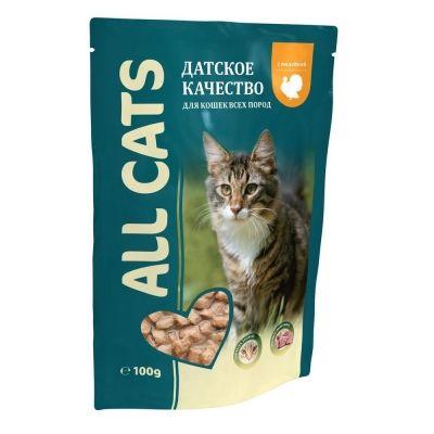 Корм для кошек ALL CATS Индейка соус пауч