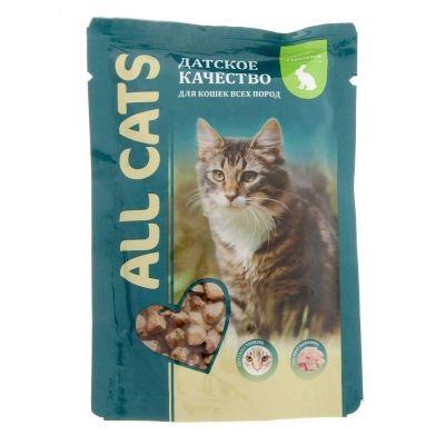 Корм для кошек ALL CATS Кролик соус пауч