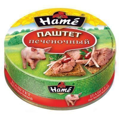 Паштет Hame Печеночный ж/б с кольцом
