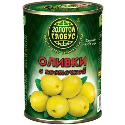 Оливки Золотой Глобус с косточкой