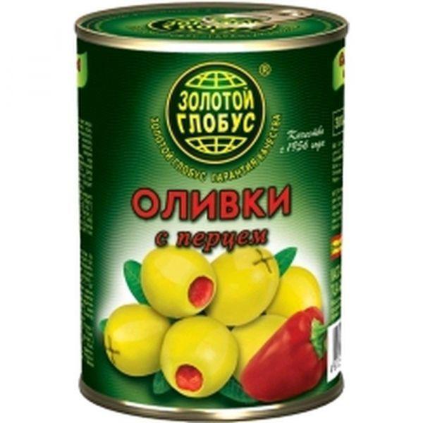 Оливки Золотой Глобус с перцем
