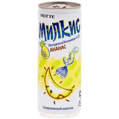 Напиток газированный Lotte Милкис Ананас