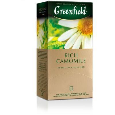 Чай Гринфилд Rich Camomile Травяной с ромашкой, корицей и яблоком 25 пак.