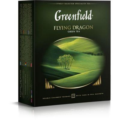Чай Гринфилд Летящий Дракон (Flying Dragon) зеленый 100 пак.
