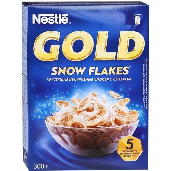 Сухие завтраки Нестле Голд Сноу Флекс с сахаром