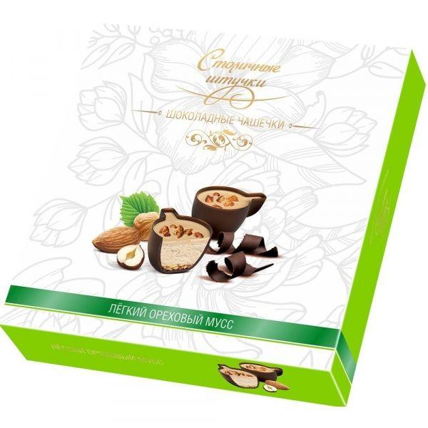 Конфеты шоколадные в коробке Столичные Штучки Ореховый мусс