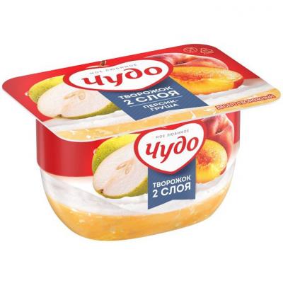 Десерт творожный 'Чудо' персик-груша 4,2%