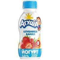 Йогурт Агуша клубника-банан 2,7% с 8 месяцев