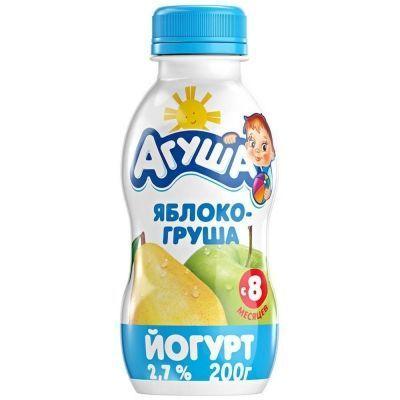 Йогурт Агуша яблоко-груша 2,7% с 8 месяцев
