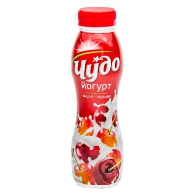 Йогурт питьевой 'Чудо' вишня-черешня 2,4% ПЭТ