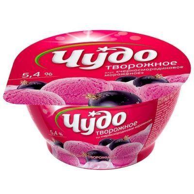 Десерт творожный 'Чудо' 5,8% без джема ягодное мороженое