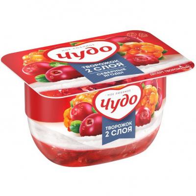 Десерт творожный 'Чудо' 4,2% Северные ягоды