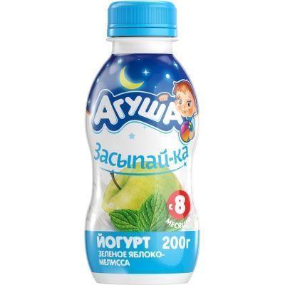 Йогурт питьевой Агуша ЗАСЫПАЙ-КА яблоко-мелисса 2,7% с 8 месяцев