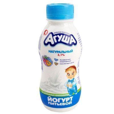 Йогурт Агуша натуральный 3,1% с 8 месяцев