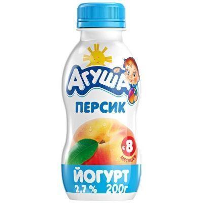 Йогурт Агуша персик 2,7% с 8 месяцев