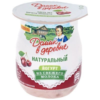 Йогурт Домик в деревне 3% термостатный вишня