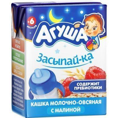 Каша молочная 'Агуша' Засыпайка овсянка-малина 2,5%