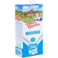 Молоко ультрапастеризованное Домик в деревне 1,5%