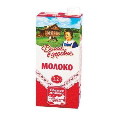 Молоко  ультрапастеризованное Домик в деревне 3,2%