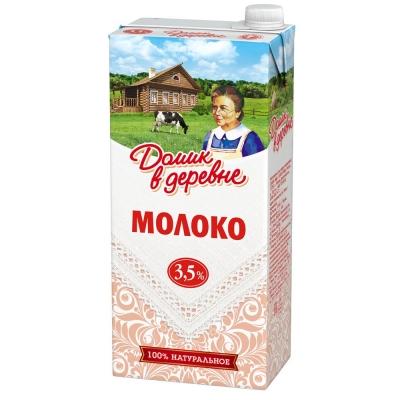 Молоко ультрапастеризованное Домик в деревне 3,5%