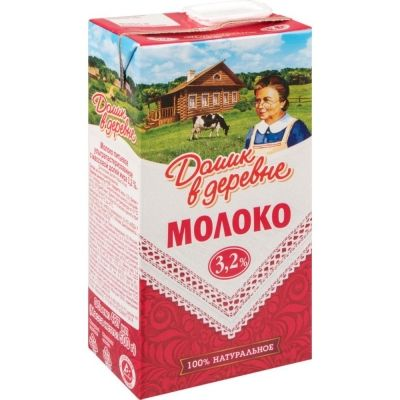 Молоко Домик в деревне 3,2%
