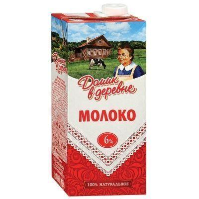 Молоко ультрапастеризованное Домик в деревне 6%