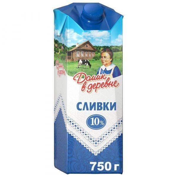 Сливки Домик в деревне пастеризованные 10%