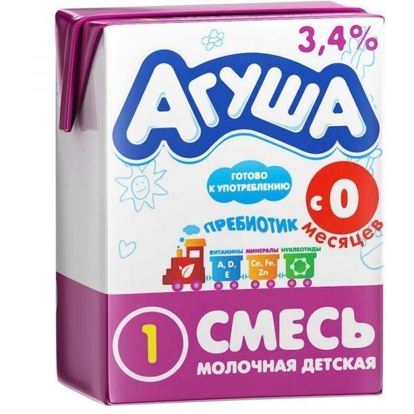 Смесь десткая молочная с пребиотиками Агуша-1 3,4% с 0 до 6 месяцев