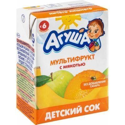 Сок Агуша мультифрукт с мякотью ТБА